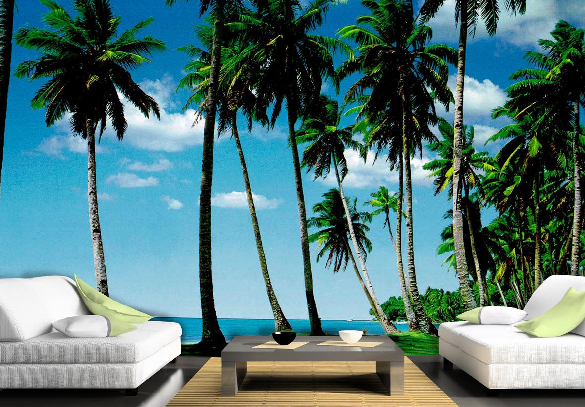 Swaying Palms Mural 8059
