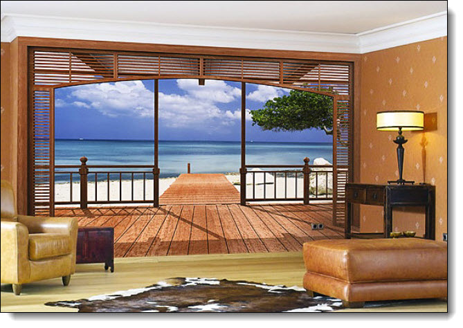 Add A Breathtaking Beach View To Any Room In Your Home Or Office With This  Beautiful Tropical Beach Themed Wall Mural. Meaning  Part 94