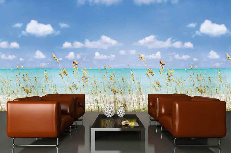 Oceanside Wall Mural 8058 roomsetting