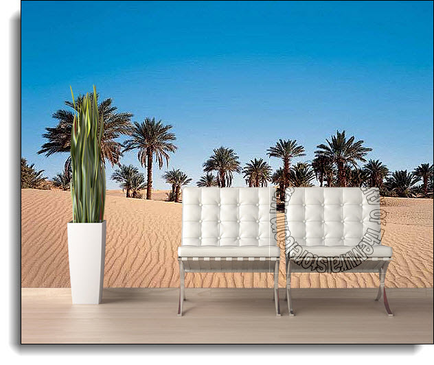Desert palm wall mural ds8068 for Desert wall mural