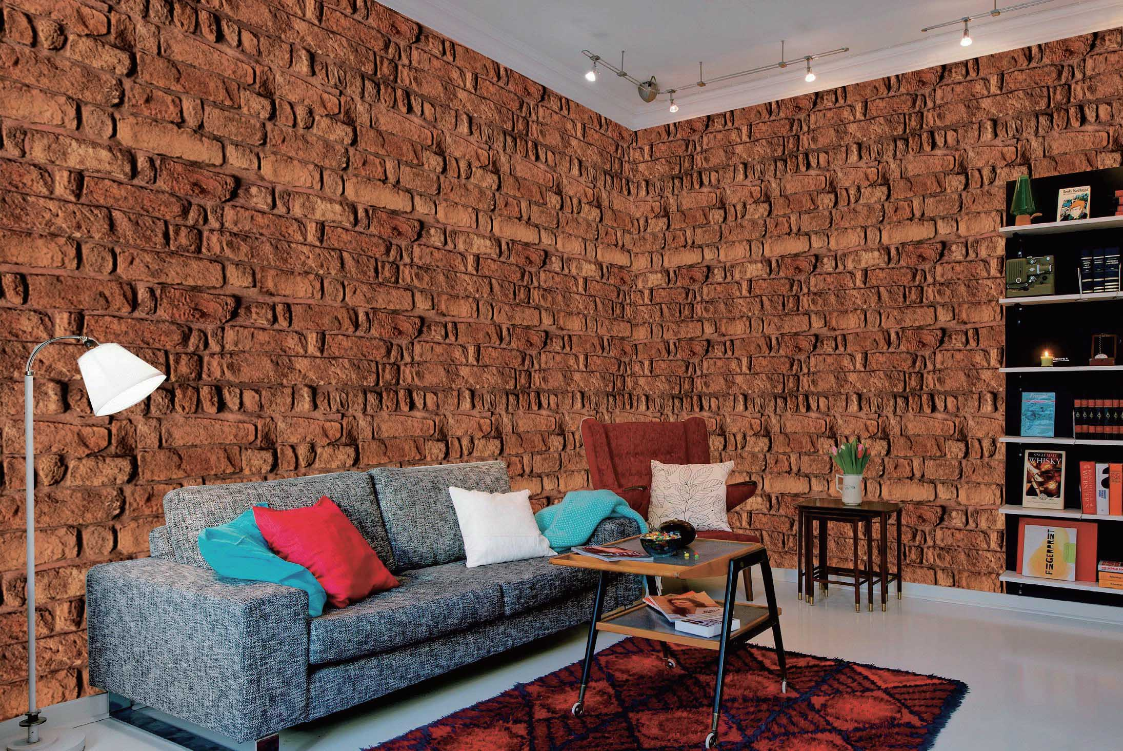Red Brick Wall Wall Mural DS8094