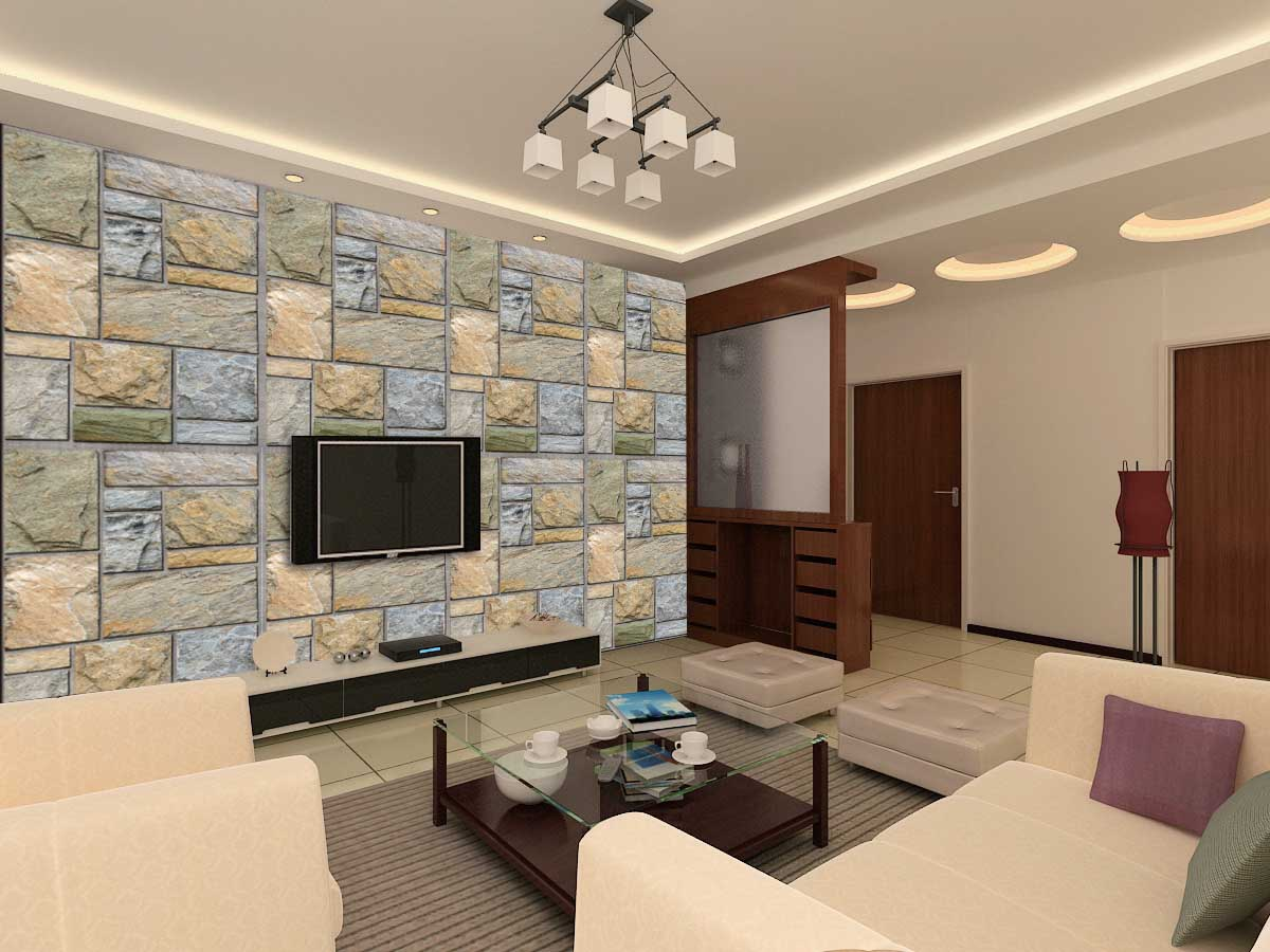 Colorful Mosaic Stone Wall Mural DS8107