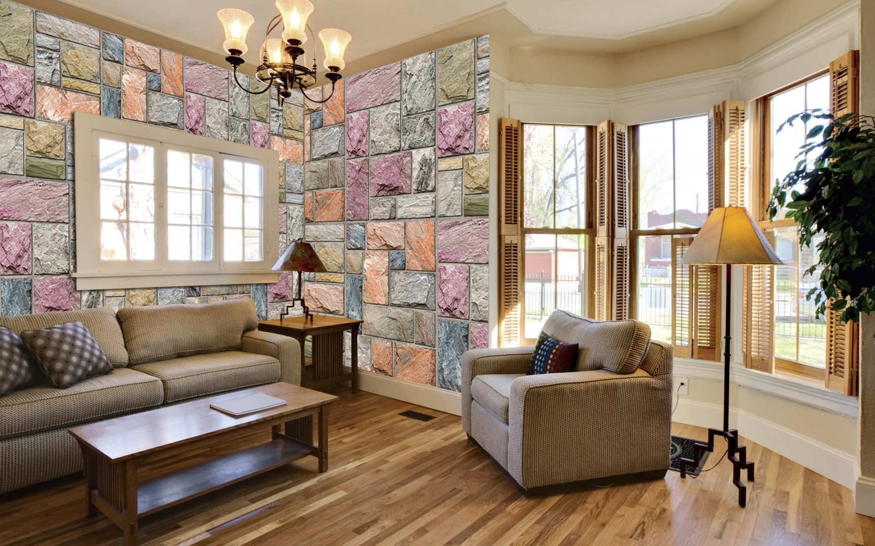 Colorful Mosaic Stone Wall Mural DS8109