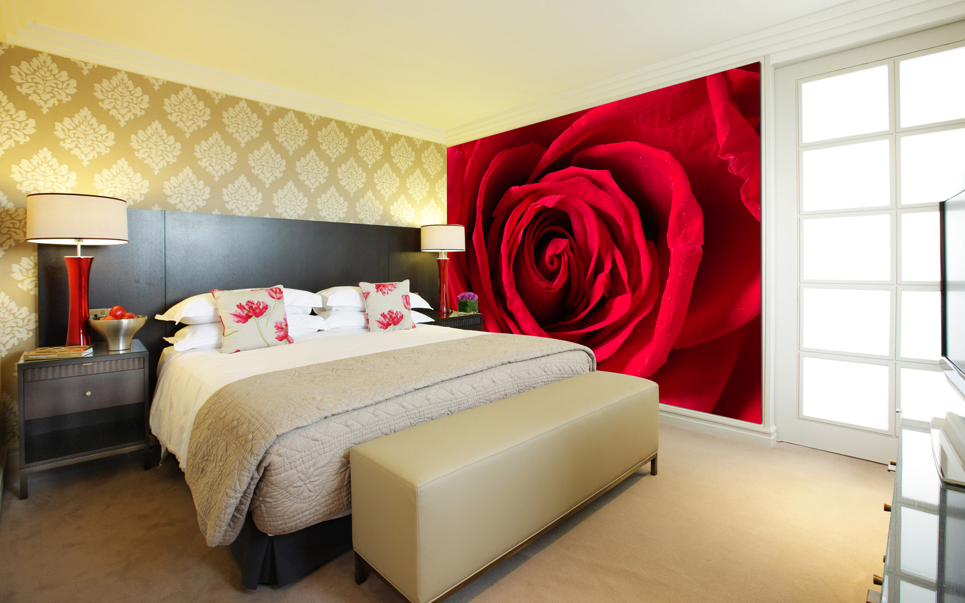 Red Rose Wall Mural DS8197