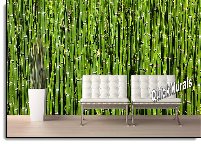 Bamboo backround peel and stick wall mural for Bamboo mural wallpaper