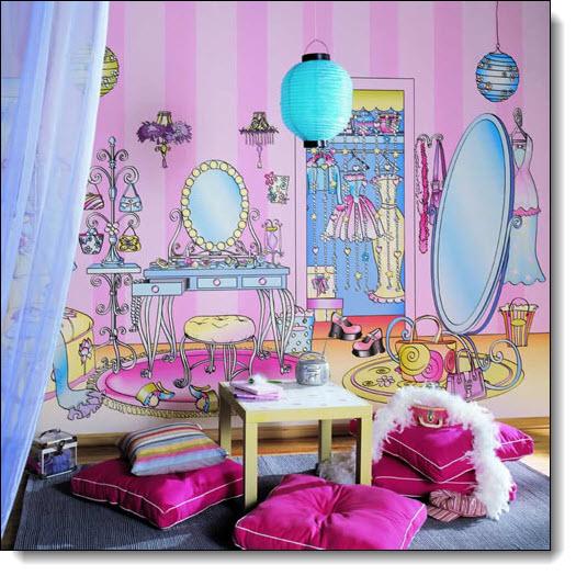 dressing room wall mural. Black Bedroom Furniture Sets. Home Design Ideas