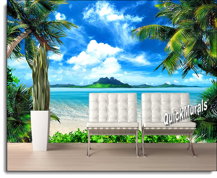 Enchanted Island Peel U0026 Stick Canvas Wall Mural Idea