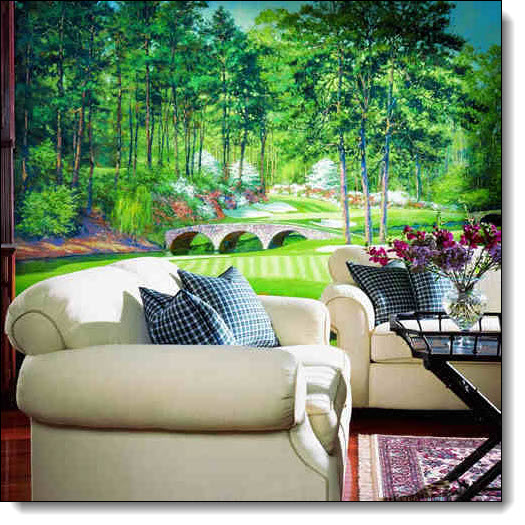 Golfers paradise wall mural for Augusta national wall mural