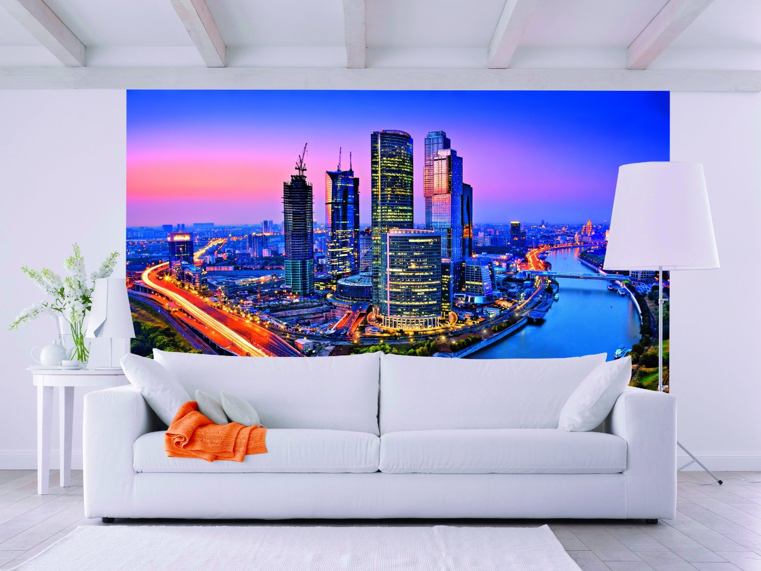Moscow Twilight Wall Mural by Ideal Decor DM125