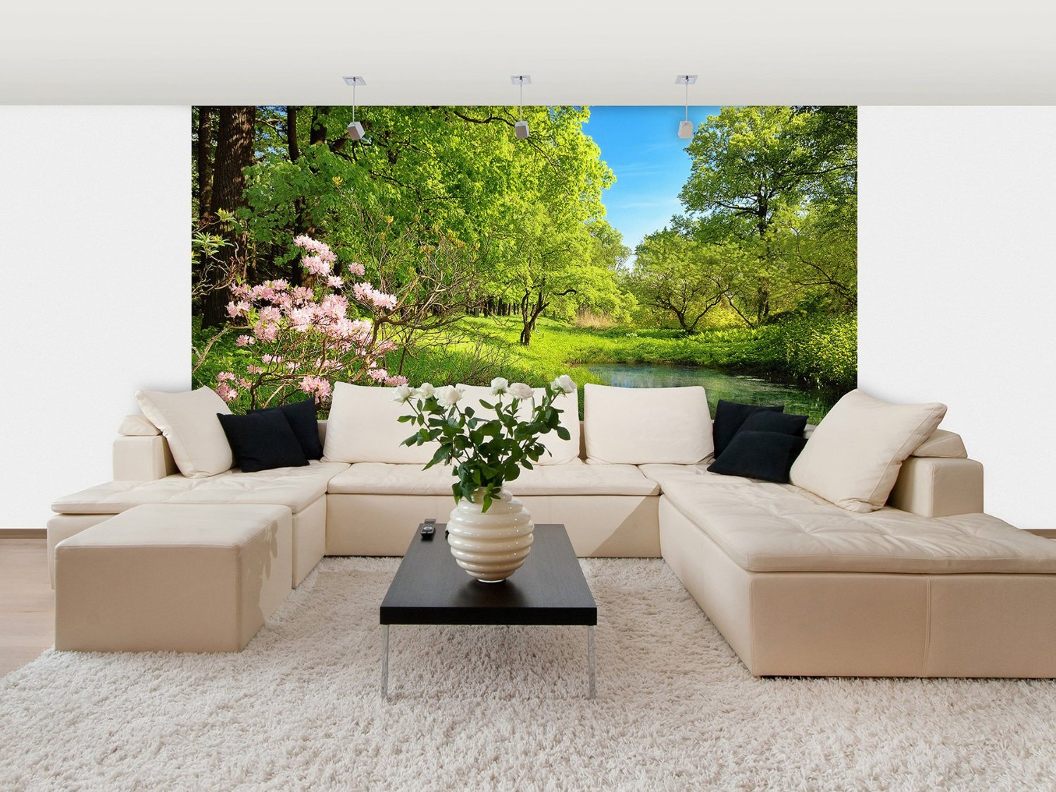 Park In The Spring Wall Mural DM136