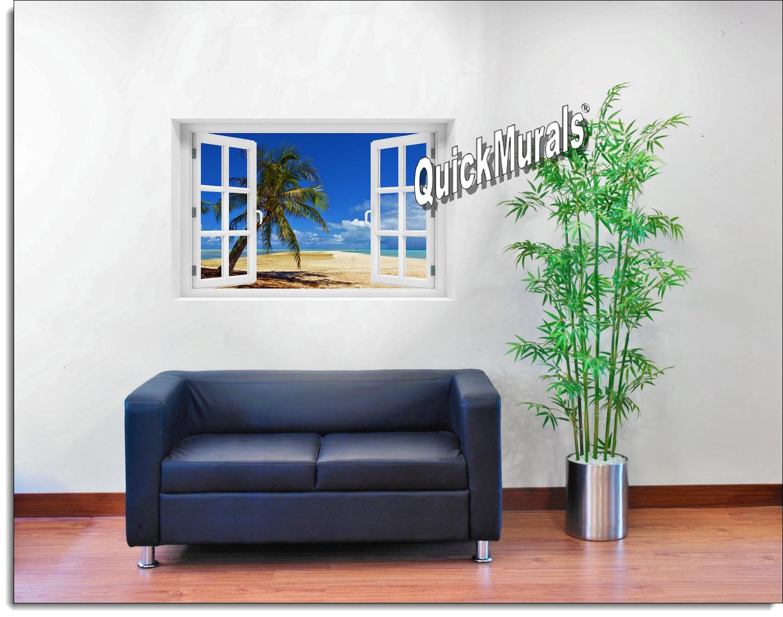 African Beach Window Mural