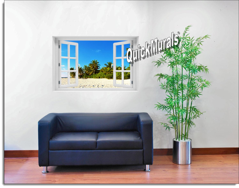 Island Getaway Window Mural