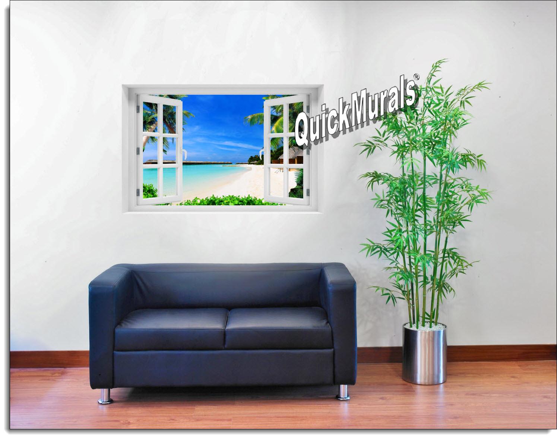 Mauai Beach Window Mural