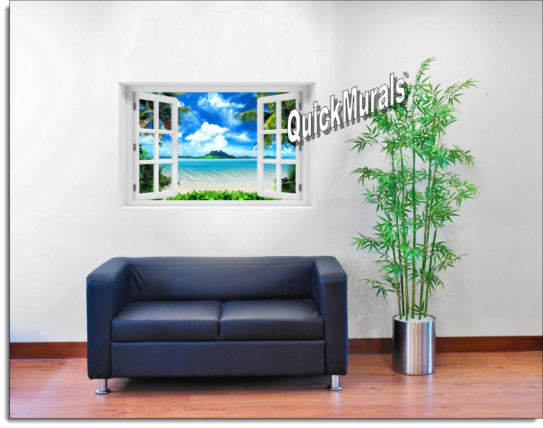 Mysterious Island Window Mural