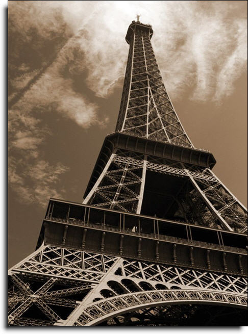 Eiffel tower paste the wall mural by brewster 99081 for Eiffel tower wall mural ikea