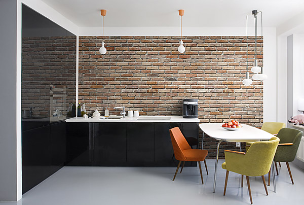 Elegant This Brick Wall Mural Is A Swanky Trompe Lu0027oueil Accent In A Space.  Creating A Feature Wall Is A Very Au Courant Concept, Especially With  Exposed Brick For ... Part 23