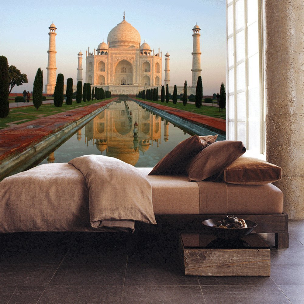 Taj mahal paste the wall mural by brewster 99079 for Definition mural