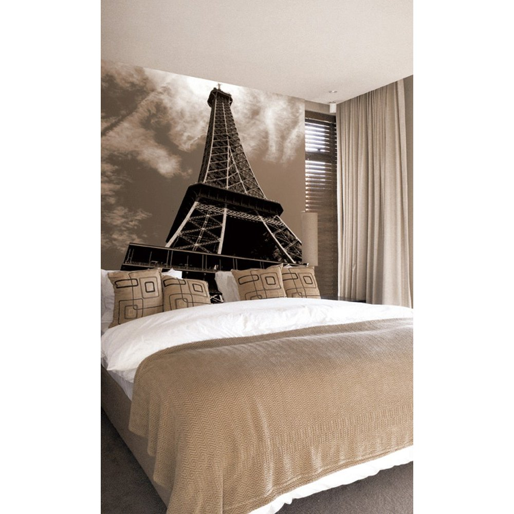 eiffel tower paste the wall mural by brewster 99081. Black Bedroom Furniture Sets. Home Design Ideas