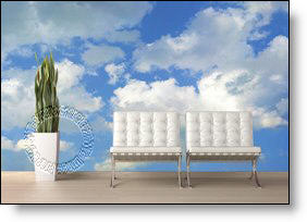 Clouds Peel & Stick Canvas Wall Mural