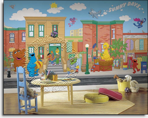 Sesame Street Wall Mural By Roommates
