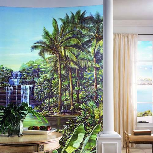 Tropical Lagoon Mural RA0172M