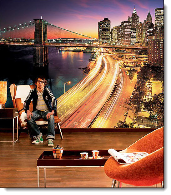NYC Lights Mural 8-516