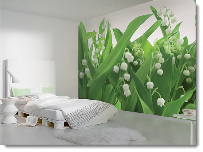 Lilies of the Valley Mural 8-517