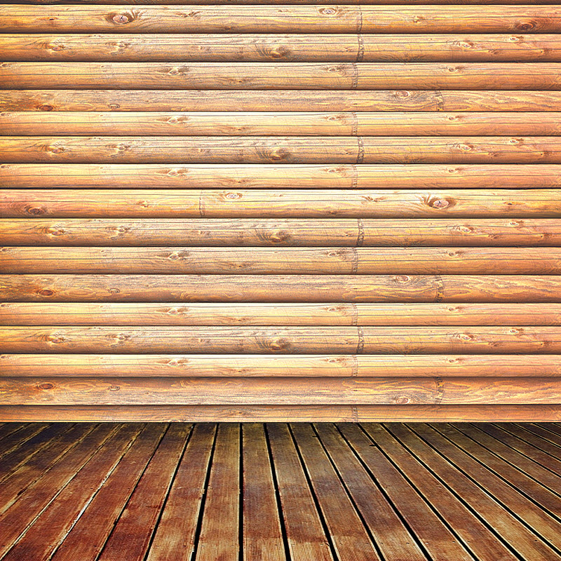 Log Cabin (Pine) Wall Mural