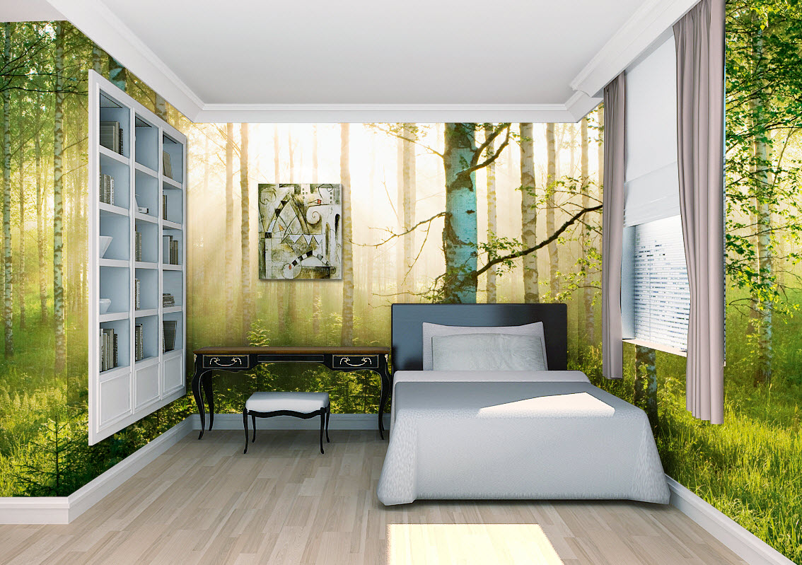 sunlight forest wall mural 1855 PR1855 DS8055