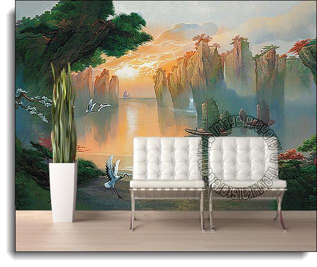 Secret Lagoon Mural 1815 DS8015