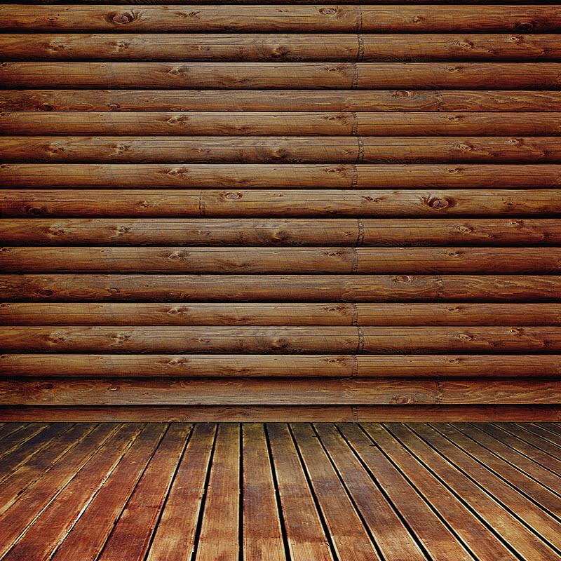 Log Cabin (Rustic Oak) Wall Mural