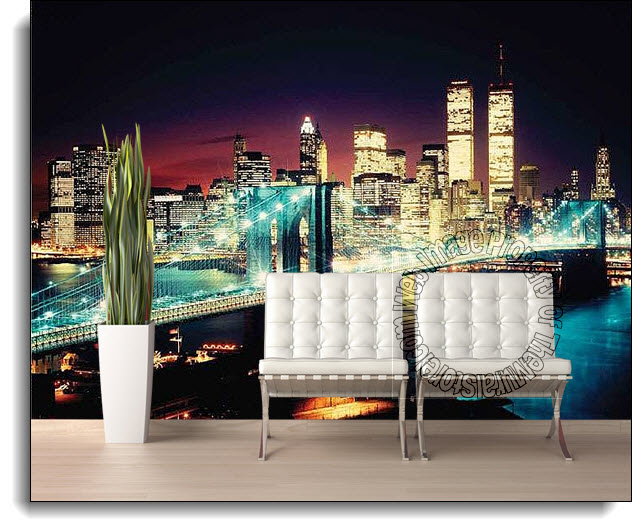 New York Bridge Wall Mural DS8071