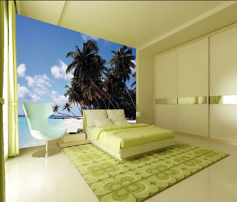 Tropical Palms Wall Mural roomsetting