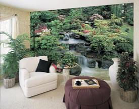 Oriental Garden Mural C393