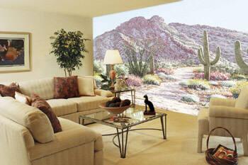 C822 Desert in Bloom Wall Mural