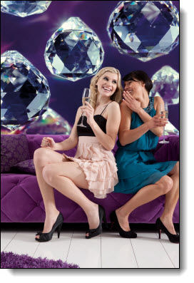 Crystals Wall Mural 8-737 roomsetting