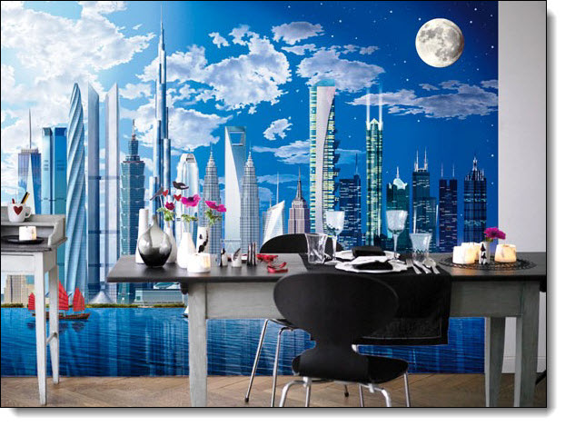 World's Tallest Buildings Mural by Ideal Decor 120 DM120