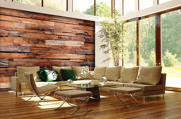 Reclaimed Wood DM150 by Ideal Decor Roomsetting