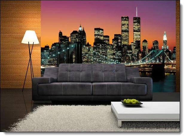 Manhattan Mural 265 roomsetting