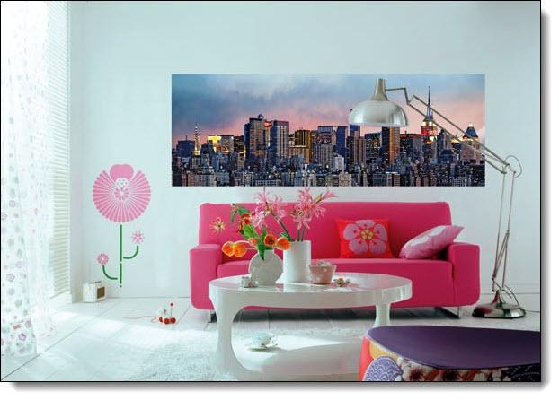 Manhattan Skyline Mural 370 DM370 roomsetting