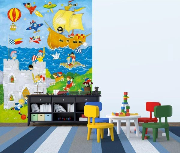 It's a Boys' World Wall Mural DM428