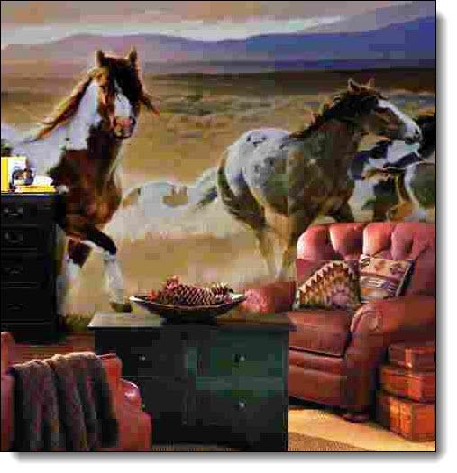Desert Horses Mural HJ6717M
