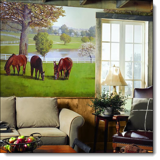 Lexington Horse Farm Mural RA0195M by York
