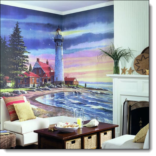 Northern Lighthouse Mural RA0191M by York