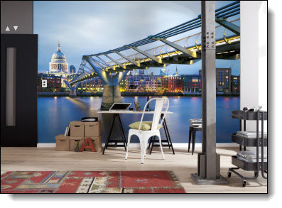 Millennium Bridge Wall Mural 8-924 roomsetting