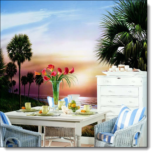 Palmetto Sunrise Mural RA0131M by York