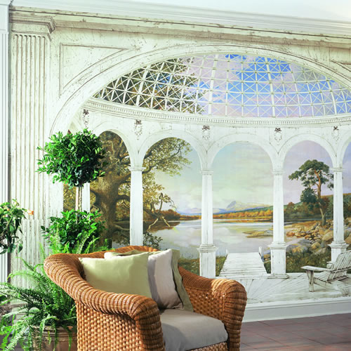 White Arches Wall Mural Full Size Large Wall Murals The Mural Store