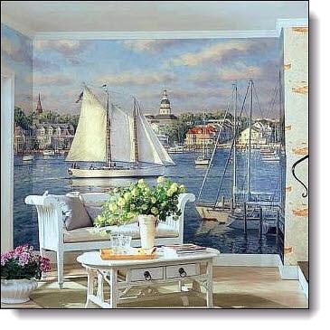Harbor Mural RA0143M by York