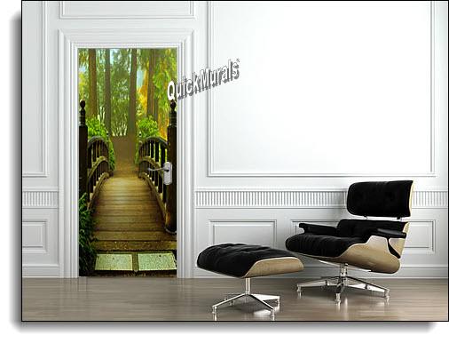 Hidden Forest Canvas Door Mural roomsetting
