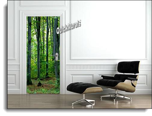 Majestic Forest Door Mural roomsetting